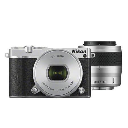 Nikon 1 J5 10-30mm + 30-110mm 雙鏡組 (銀色-公司貨)-加送64G記憶卡