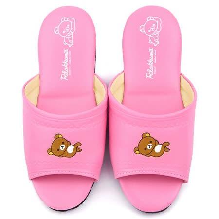 童鞋城堡-拉拉熊 成人款 靜音防滑室內拖鞋KM26174-粉