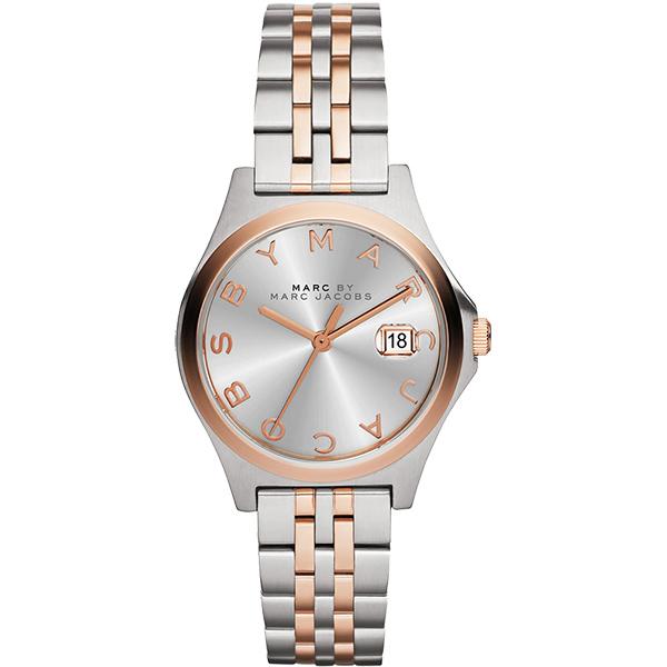 Marc by Marc Jacobs Slim Grey系列腕錶~銀x雙色版30mm M