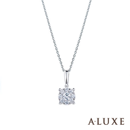 A-LUXE 亞立詩 18K金0.37克拉 鑽石項鍊