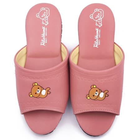 童鞋城堡-拉拉熊 成人款 靜音防滑室內拖鞋KM26174-豆沙