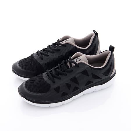 KENBOO 男款 虛實之間 輕量透氣加高運動鞋-黑 (三色)