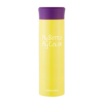 LOCK 樂扣樂扣潮流色彩MY BOTTLE保溫瓶-黃色(390ML)