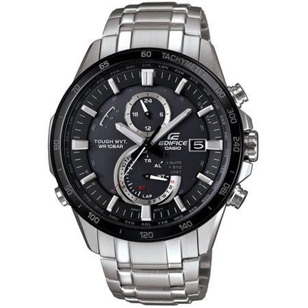 CASIO EDIFICE 粗曠魅力六局電波腕錶-黑48mm/EQW-A1400DB-1A
