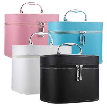 超質感 手提式大容量硬殼版防水化妝箱 收納箱(1入)