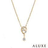 A-LUXE 亞立詩 Shine系列 黃K金鑽石項鍊