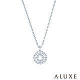 A-LUXE 亞立詩 Shine系列 白K金鑽石項鍊