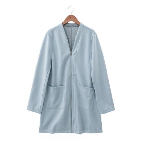 NR 棉織夾克-藍