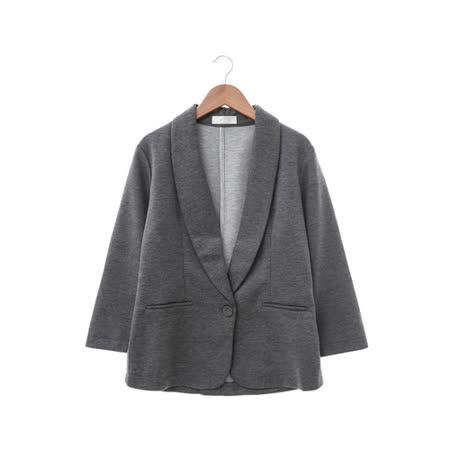 NR 棉織夾克-黑