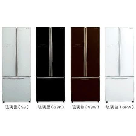 【HITACHI日立】421L變頻三門對開冰箱RG430