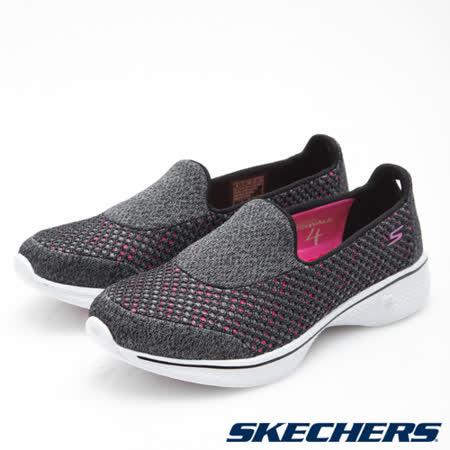 SKECHERS (女) 健走系列GO Walk 4 - 14145BKHP