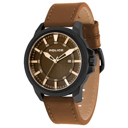 POLICE  錫網時尚日期腕錶-14790JSB-02A