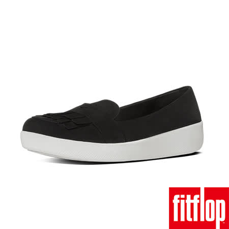 FitFlop™-(女款)FRINGEY SNEAKERLOAFER-黑色
