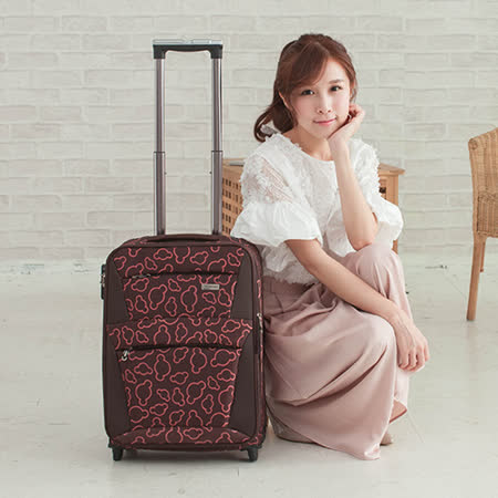 【明庭】18吋 米奇造型旅行箱(咖)
