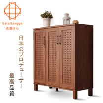 【Sato】GENKA時間絮語三門鞋櫃‧幅87cm