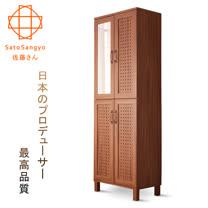 【Sato】GENKA時間絮語四門鏡面高鞋櫃‧幅58cm