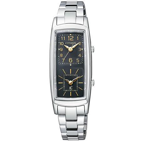 CITIZEN 星辰 xC系列 店鋪限定雙時間不鏽鋼女用腕錶/EW4000-55E