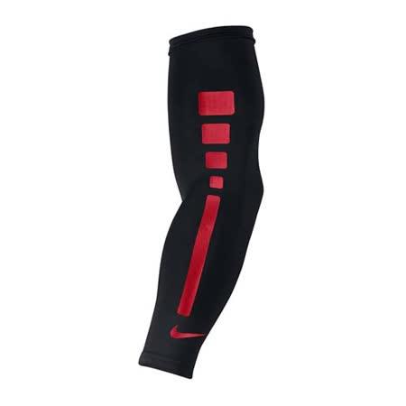 NIKE 籃球臂套-防曬 慢跑 路跑 單車 自行車 袖套 一雙入 黑紅