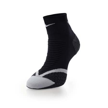 (男女) NIKE 慢跑專業避震短襪-襪子 路跑 黑白銀 M