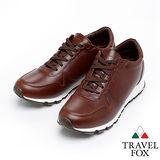 Travel Fox 皮革雅致休閒鞋916661(咖啡-576)(男)