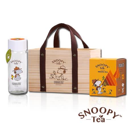 帶我走 木箱子系列- SNOOPY TEA 沐青烏龍茶精緻禮盒