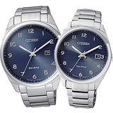 CITIZEN 星辰 光點時刻經典簡約大三針對錶/男BM7320-87L/女EO1170-51L