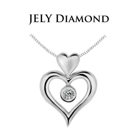 【JELY】天使之戀天然鑽石墜鍊(3分)