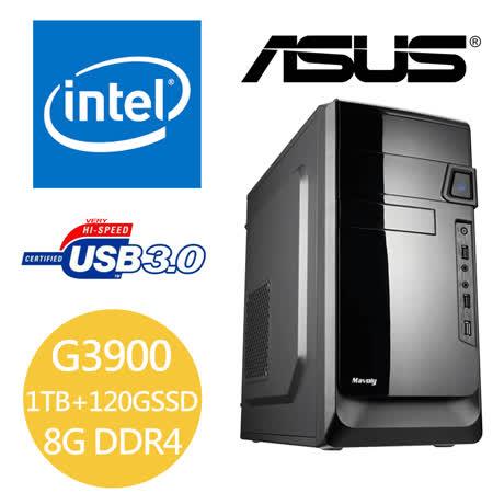 華碩H110M平台【武士】G3900 120G SSD+1TB HDD 8G RAM 大容量文書主機