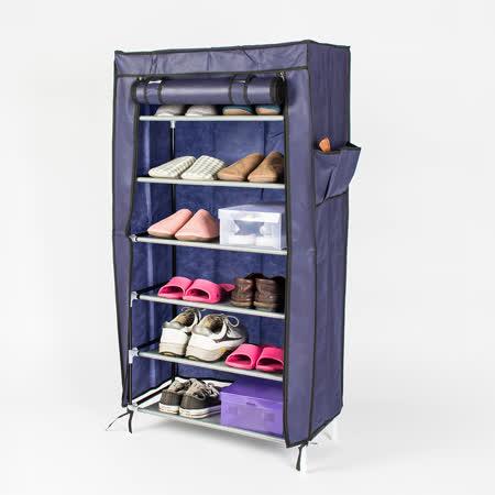 多彩防塵DIY六層單排組合鞋架鞋櫃置物架