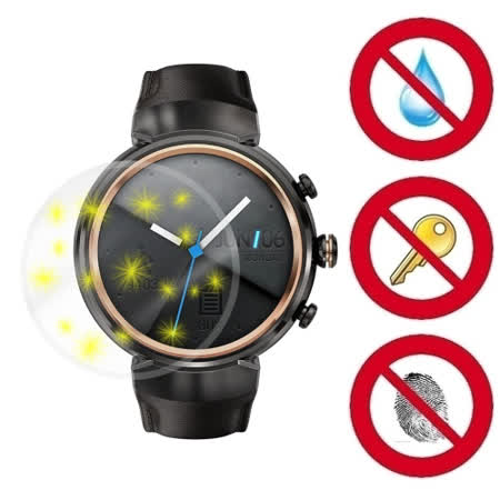 D&A ASUS ZenWatch 3 / WI503Q專用日本NEW AS玻璃奈米5H 螢幕保護貼(超值2入)