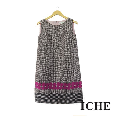 ICHE 衣哲 點點印花造型洋裝