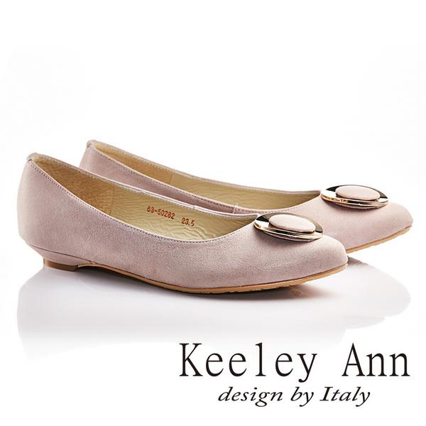 Keeley Ann金屬土星圈圈OL全真皮微尖頭鞋 淺粉色635028290