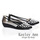Keeley Ann 經典風華-鑲鑽質感透膚內增尖頭鞋(黑色535288110)