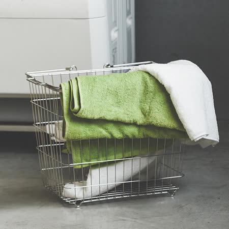 Peachy life 不鏽鋼方形洗衣籃/收納籃/髒衣籃