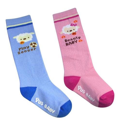 喜羊羊半統止滑童襪^(9~11公分11~13公分13~15公分^)藍色粉色