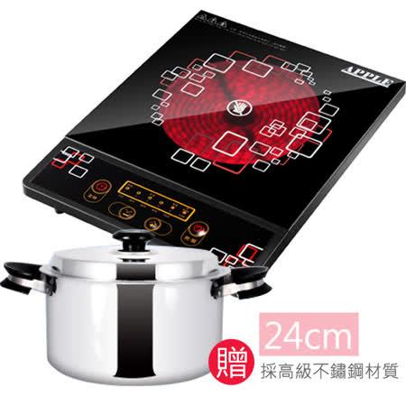 《買就送湯鍋》【蘋果牌】APPLE不挑鍋電陶爐 AP-i1810_ESW24