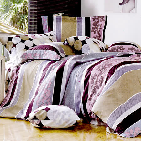 RODERLY-純棉 兩用被床罩組 加大六件式-愛情驛站