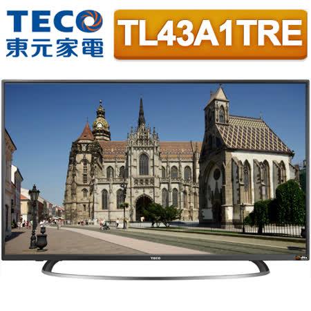 TECO東元 43吋低藍光IPS FHD液晶顯示器+視訊盒(TL43A1TRE)*送雙星14吋立扇