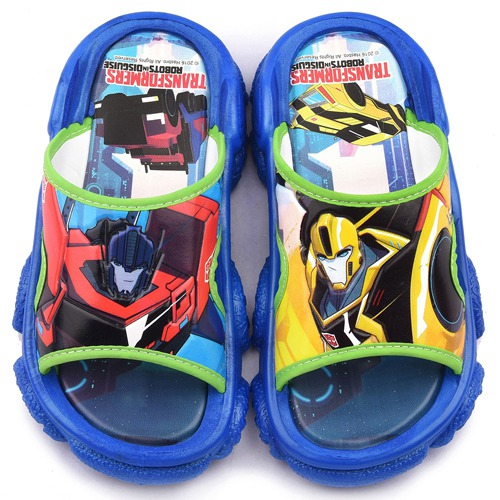 童鞋城堡-變形金剛 中大童 不對稱設計戶外拖鞋TF10089-藍