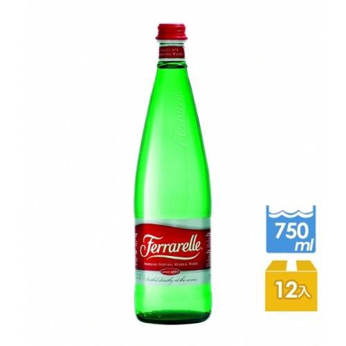 義大利法拉蕊Ferrarelle 天然氣泡礦泉水 (750mlx12瓶/箱)