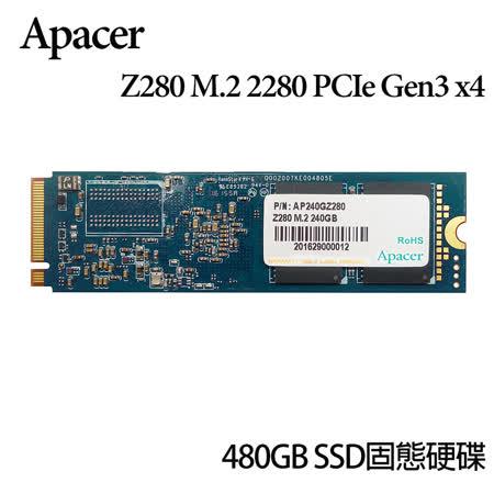 Apacer Z280 M.2 PCIe Gen3*4 480GB SSD固態硬碟