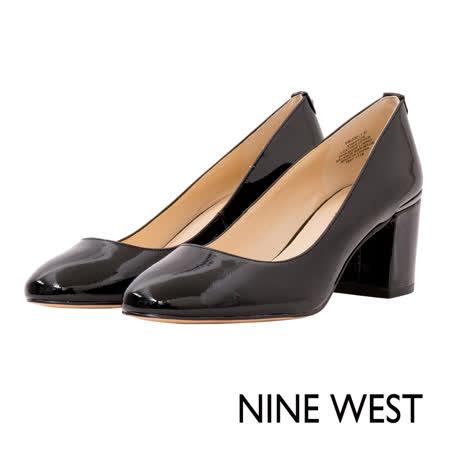 NINE WEST--閃耀亮片微尖頭高跟鞋--率性黑