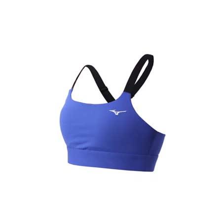(女) MIZUNO 運動內衣-慢跑 路跑 運動背心 健身 美津濃 藍黑白