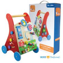 美國 KIDS PREFERRED 木質益智活動學步車