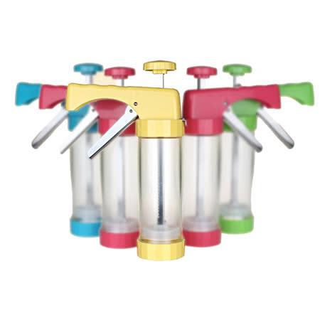 PUSH!廚房用品 花式餅乾壓花機餅乾模具模裱花嘴裱花器烘焙工具D53-2黃色