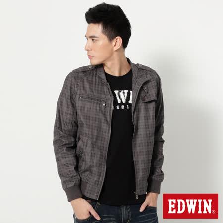 EDWIN 暗格塗層 風衣外套-男- 灰褐