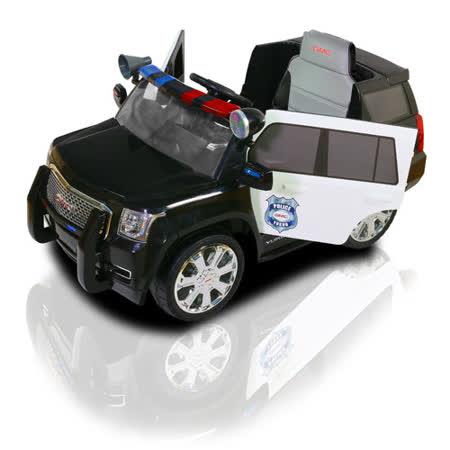 GMC 雙驅動警/POLICE CAR/可遙控/兒童電動車
