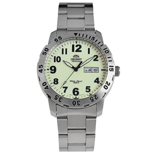 ORIENT 東方錶 全夜光錶面機械錶不鏽鋼腕錶/43mm/FEM7ASR