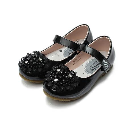 (小童) MIFFY 珠珠公主鞋 黑 鞋全家福