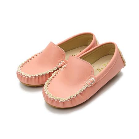 (中小童) TE TE 縫線套式休閒鞋 粉 鞋全家福